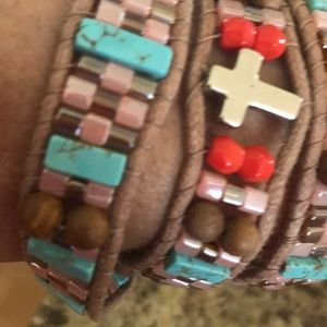 Authentic Native American handmade wrap bracelet!!
